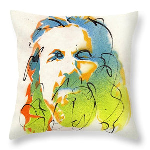 Portrait of The Dude - Throw Pillow by Ryan Hopkins - The Big Lebowski