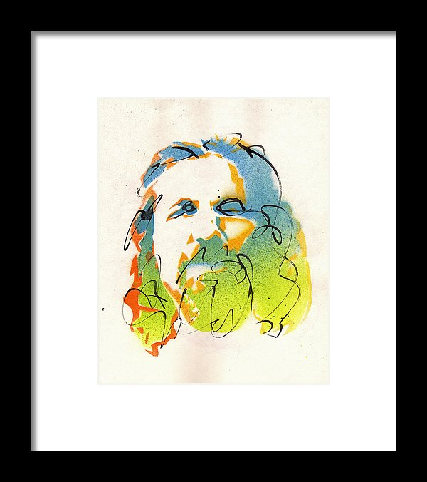 The Dude - Big Lebowski Framed Art Print by Artist Ryan Hopkins
