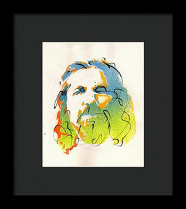 Portrait of The Dude - Framed Print by Ryan Hopkins - The Big Lebowski