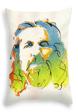 Load image into Gallery viewer, Portrait of The Dude - Throw Pillow by Ryan Hopkins - The Big Lebowski