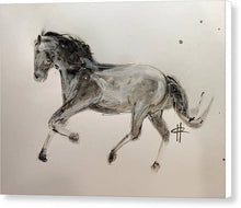 Load image into Gallery viewer, Unbridled -Ink Sketch of a Horse on Canvas by Ryan Hopkins
