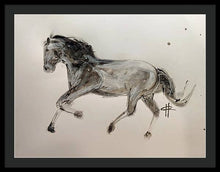 Load image into Gallery viewer, Unbridled - Framed Ink Sketch Horse Print by Ryan Hopkins