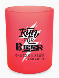 Run For Beer 12 oz Base Silipint Glass