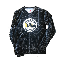 Load image into Gallery viewer, Black Topographic INSTA-WICK™  Moisture Wicking Long Sleeve