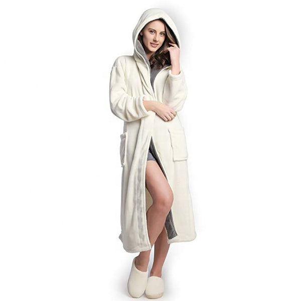 Thick White Nochee Womans Bath Robe