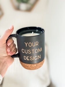 Candle Mug Collection | Cup of Cozy | Custom Mug Soy Candle
