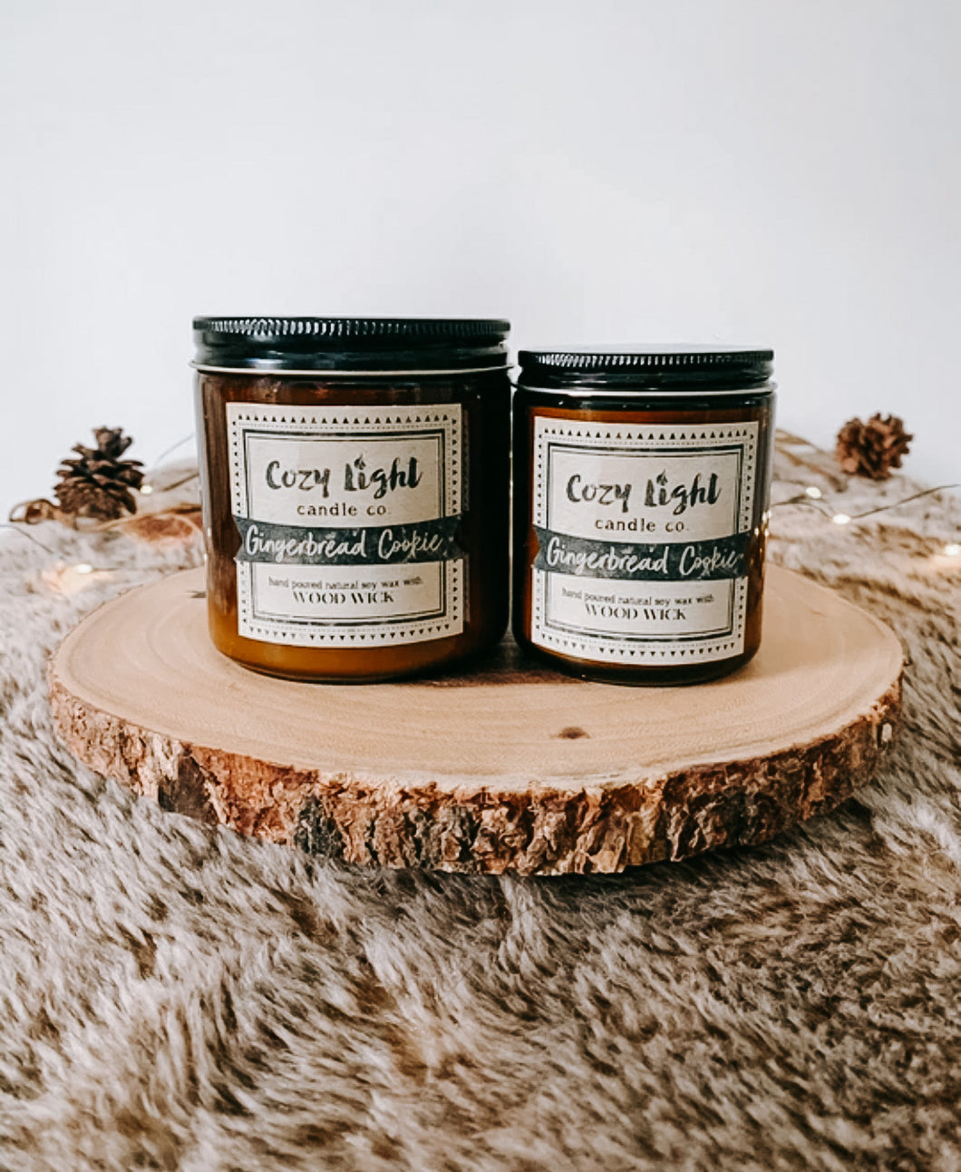 GINGERBREAD COOKIE Wood Wick Candle