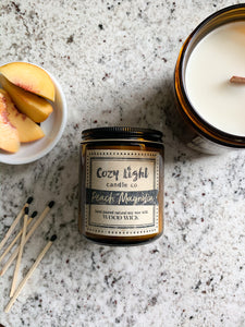 PEACH MAGNOLIA Wood Wick Candle
