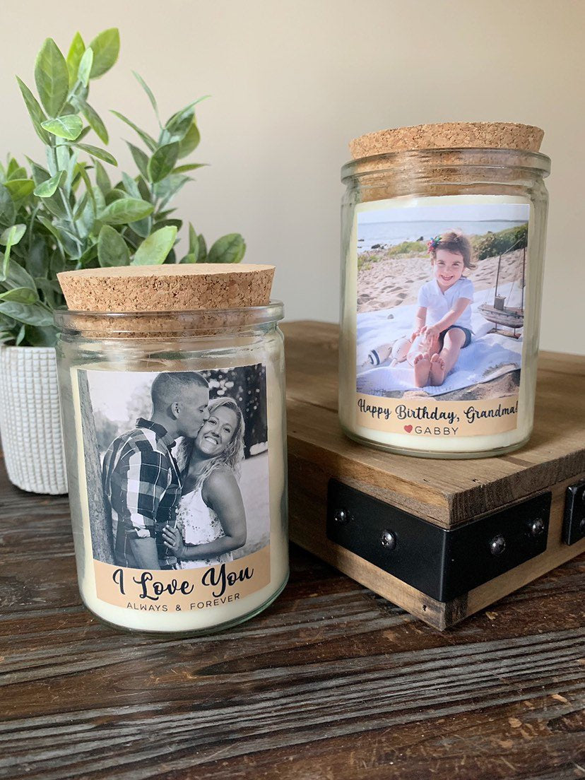 Personalized Photo Soy Candle