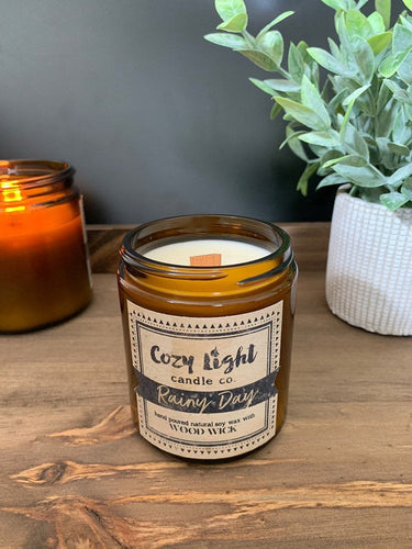 RAINY DAY Wood Wick Candle