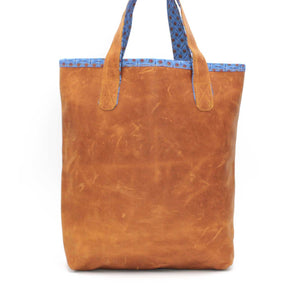 Everyday Rugged Leather Handbag - Mineral Blue
