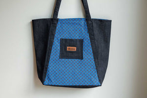 Bosisi Designs Shopper Bag Shopping Tote - Mineral Blue