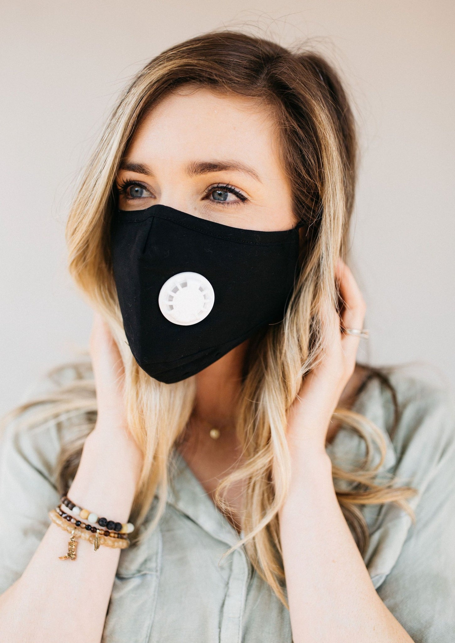 Black Breathable Vented Mask