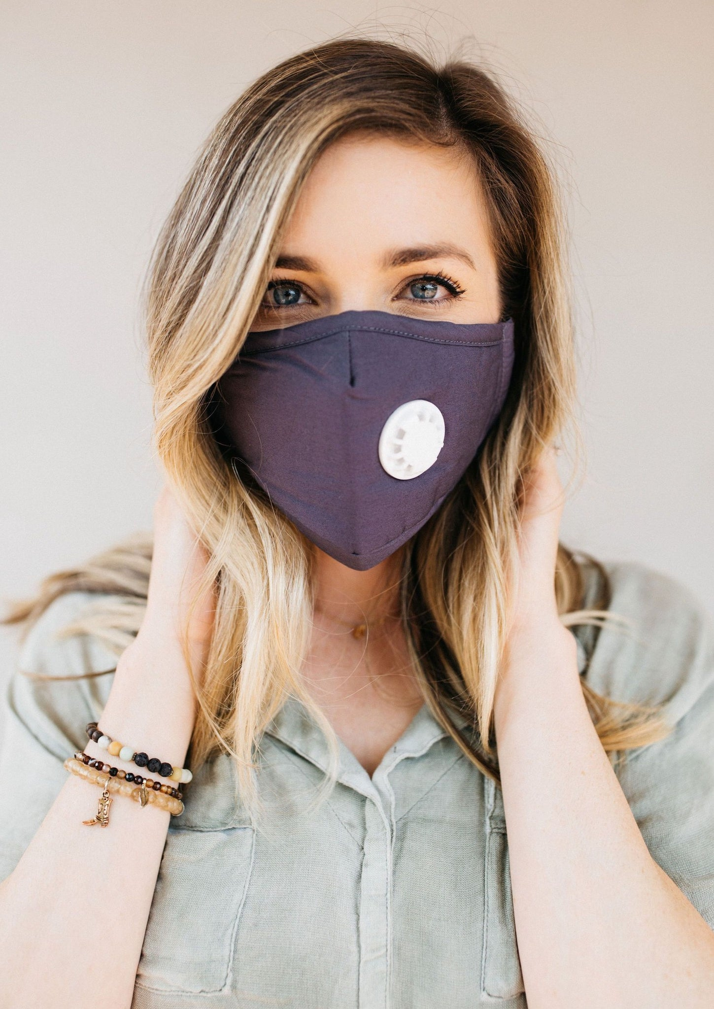 Gray Breathable Vented Mask