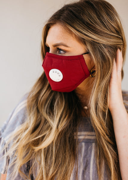 Red Breathable Vented Mask