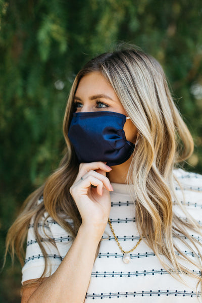 Navy-Blue Face Mask