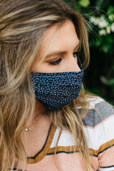 Vineyard Navy Face Mask