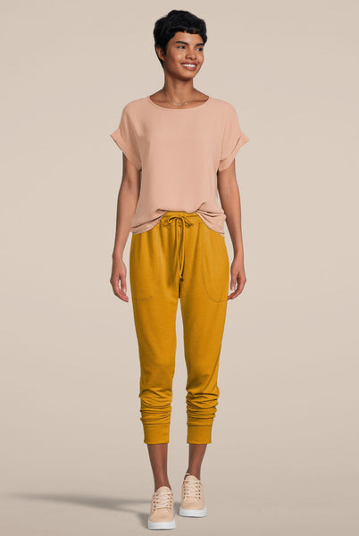 Deep Pocket Joggers Mustard