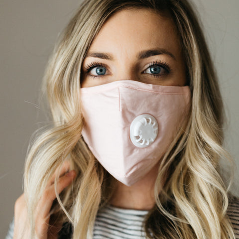 Pink Breathable Vented Mask