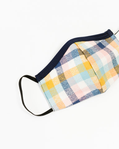 Blush Flannel Children's Face Mask