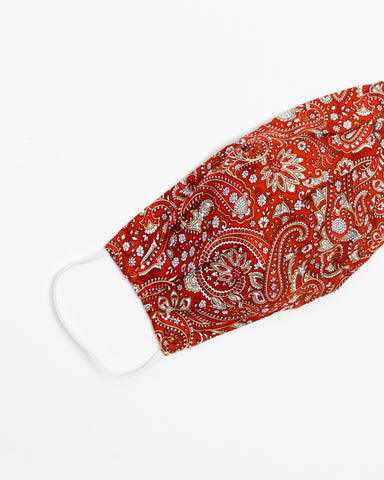 Burgundy Paisley Face Mask