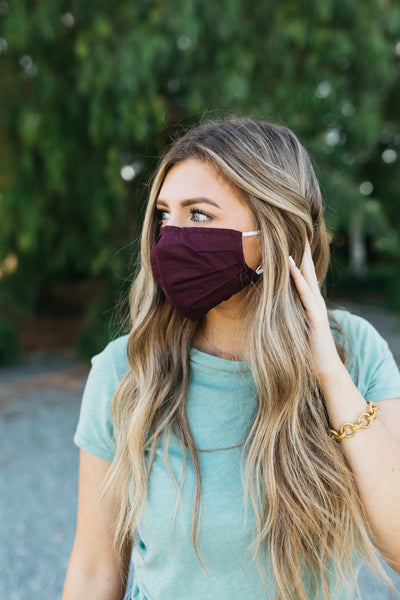 Burgundy ULTRA Light Face Mask