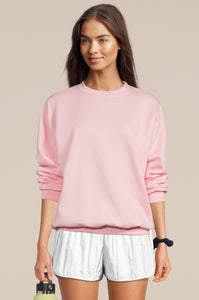Crew Neck Sweatshirt Pink