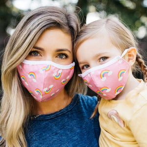 Pink Rainbow Comfort Face Mask (Adults & Kids)