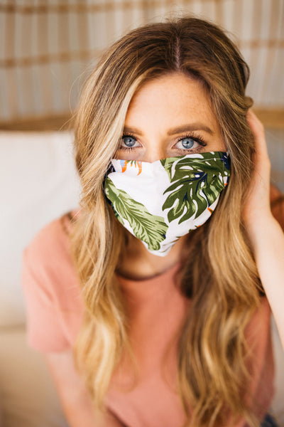 Tropical Green Face Mask