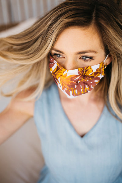 Tropical Gold Face Mask