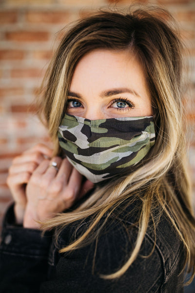 Camo Green Face Mask