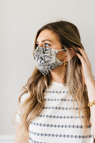 Snakeskin Satin Face Mask