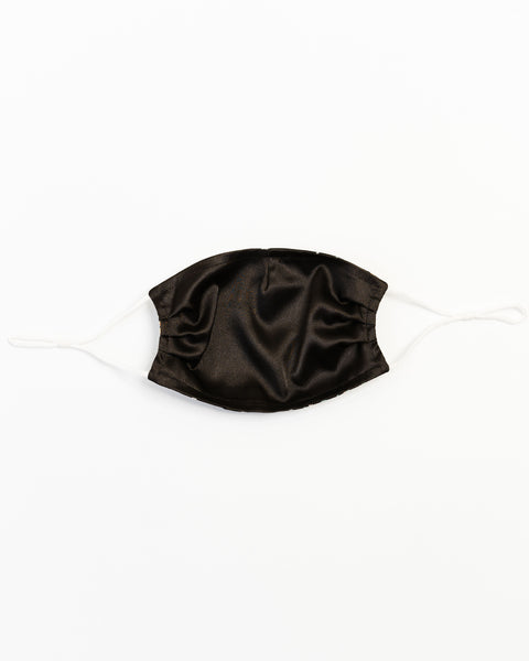 Dark Blooms Satin Face Mask