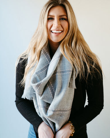 High Street Blanket Scarf - Gray