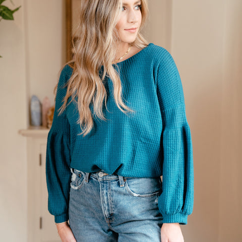 Urban Cozy Blouse Teal
