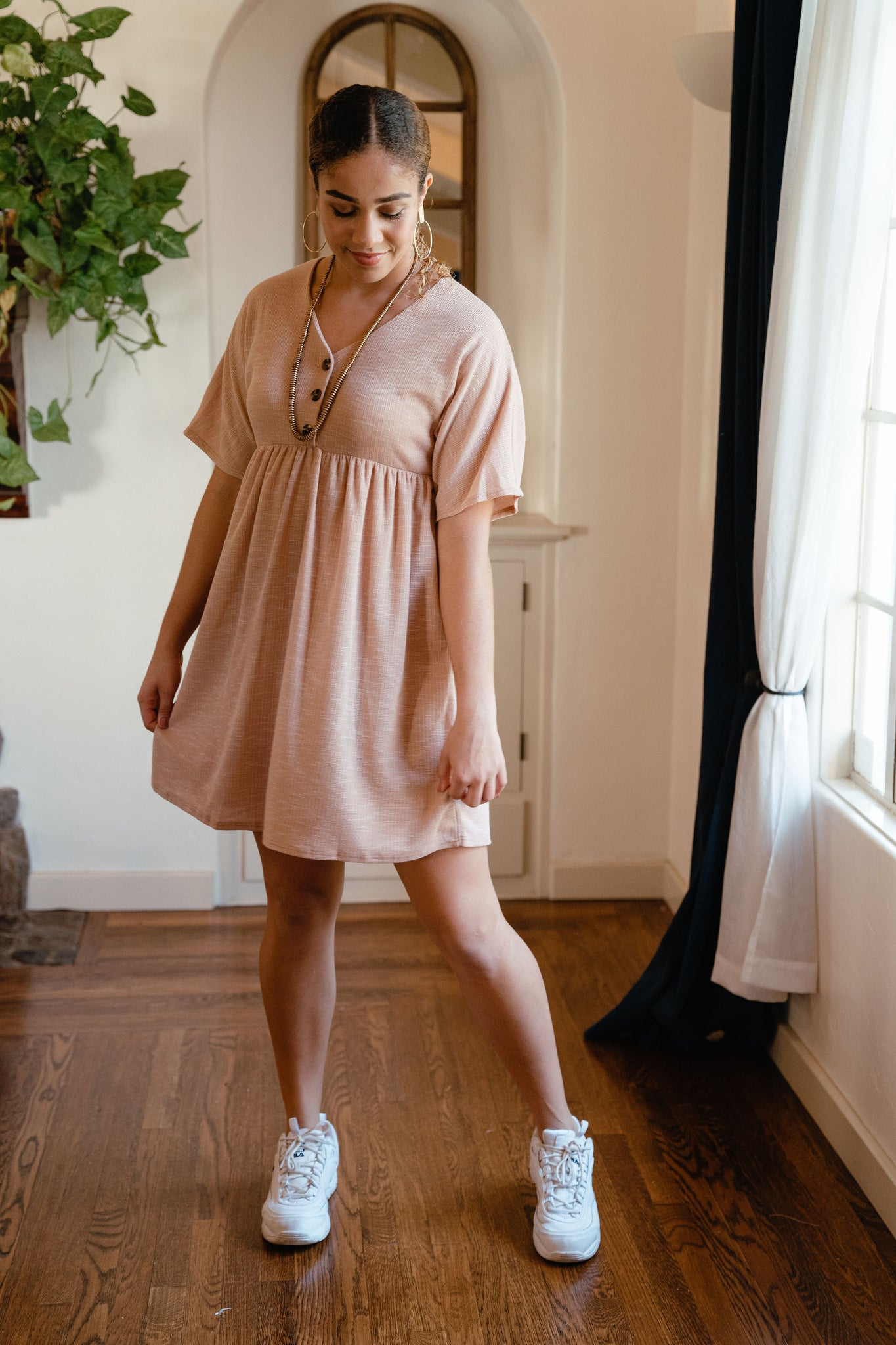 Chloe Dress Taupe