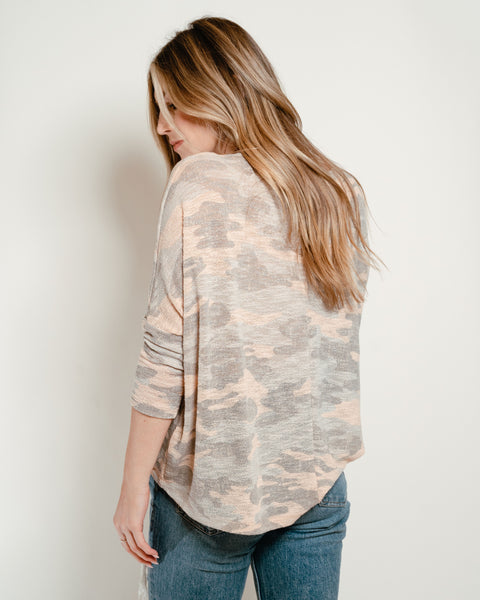 Camo Dolman Dusty Pink
