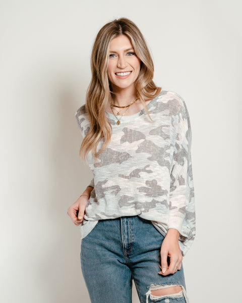 Camo Dolman Off White