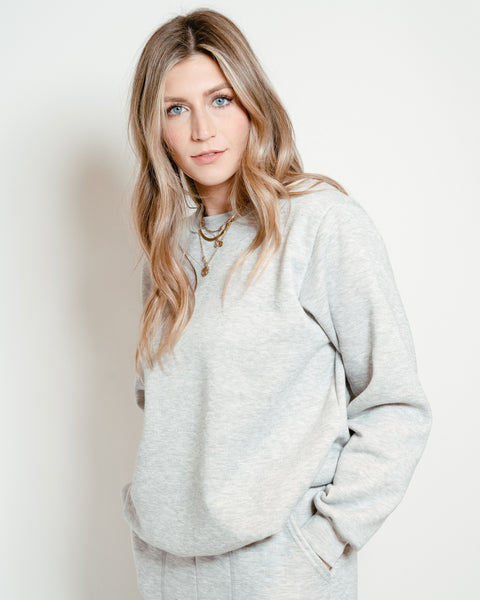 Crew Neck Sweatshirt Heather Gray