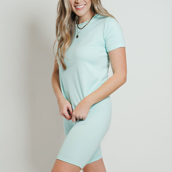 Ultra Soft Biker Short Set Mint