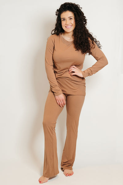 Ultra Soft Flair Pant Set Mocha