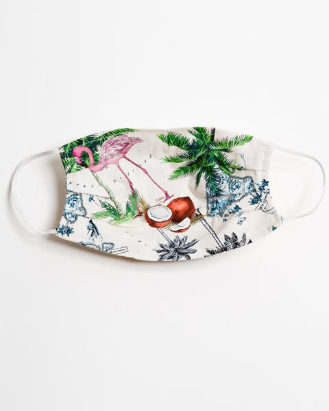 Vintage Hawaii Face Mask