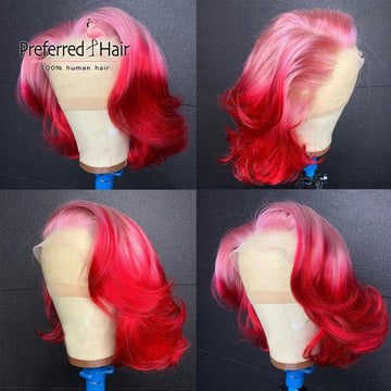 Pink/Red Ombre Lace Wig
