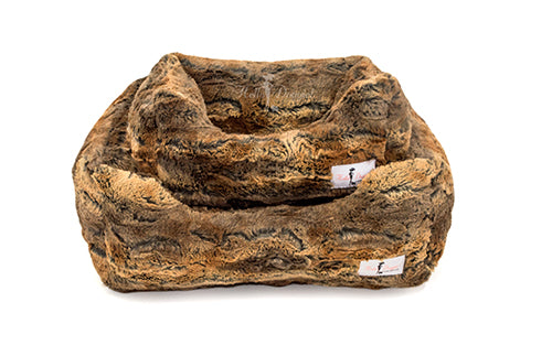 Animal Print Luxe Dog Bed - Bark Fifth Avenue