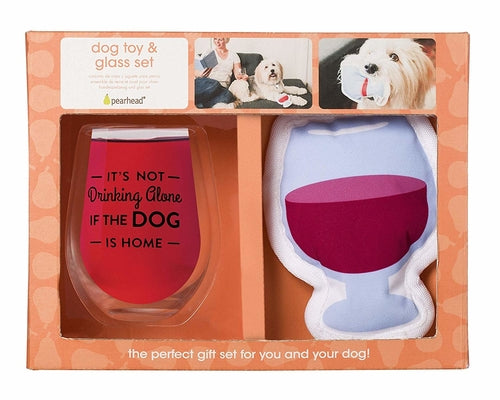 Owner/Pet Gift Set - It's not Drinking Alone if the Dog is Home - Bark Fifth Avenue