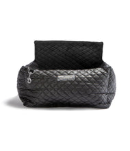 Load image into Gallery viewer, CAR SEAT QUILTED VEGAN BLACK LEATHER AND INTERIOR DARK GRAY