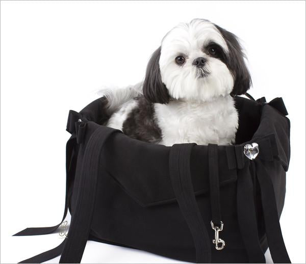 Luxury Susan Lanci Tail Bow Heart Carrier - Bark Fifth Avenue