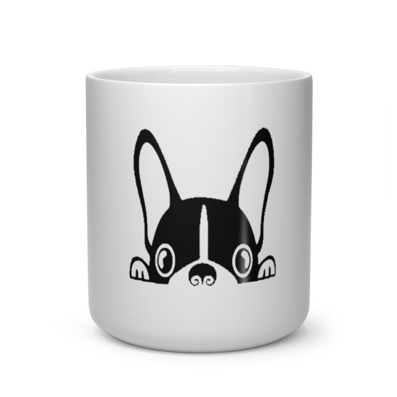 Good Morning Frenchie Heart Shape Mug