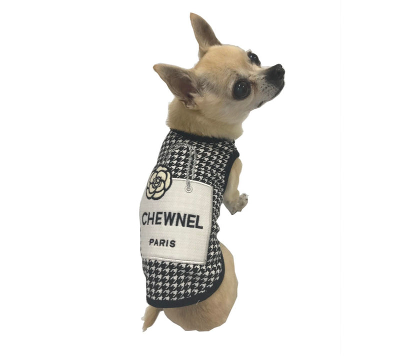CHEWNEL SHOPPING BAG HOUNDSTOOTH TANK - Bark Fifth Avenue