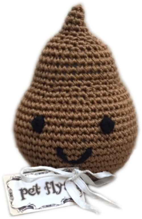 Knit Knacks Doodie the Poo Organic Cotton Small Dog Toy - Bark Fifth Avenue